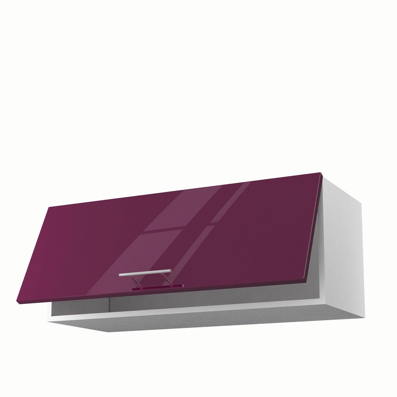 Meuble de cuisine haut violet 1 porte rio x x p for Meuble cuisine haut leroy merlin