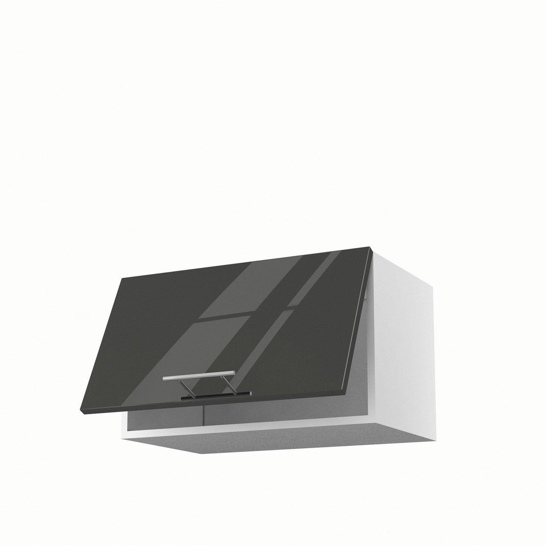 meuble de cuisine haut gris 1 porte rio h35 x l60 x p35