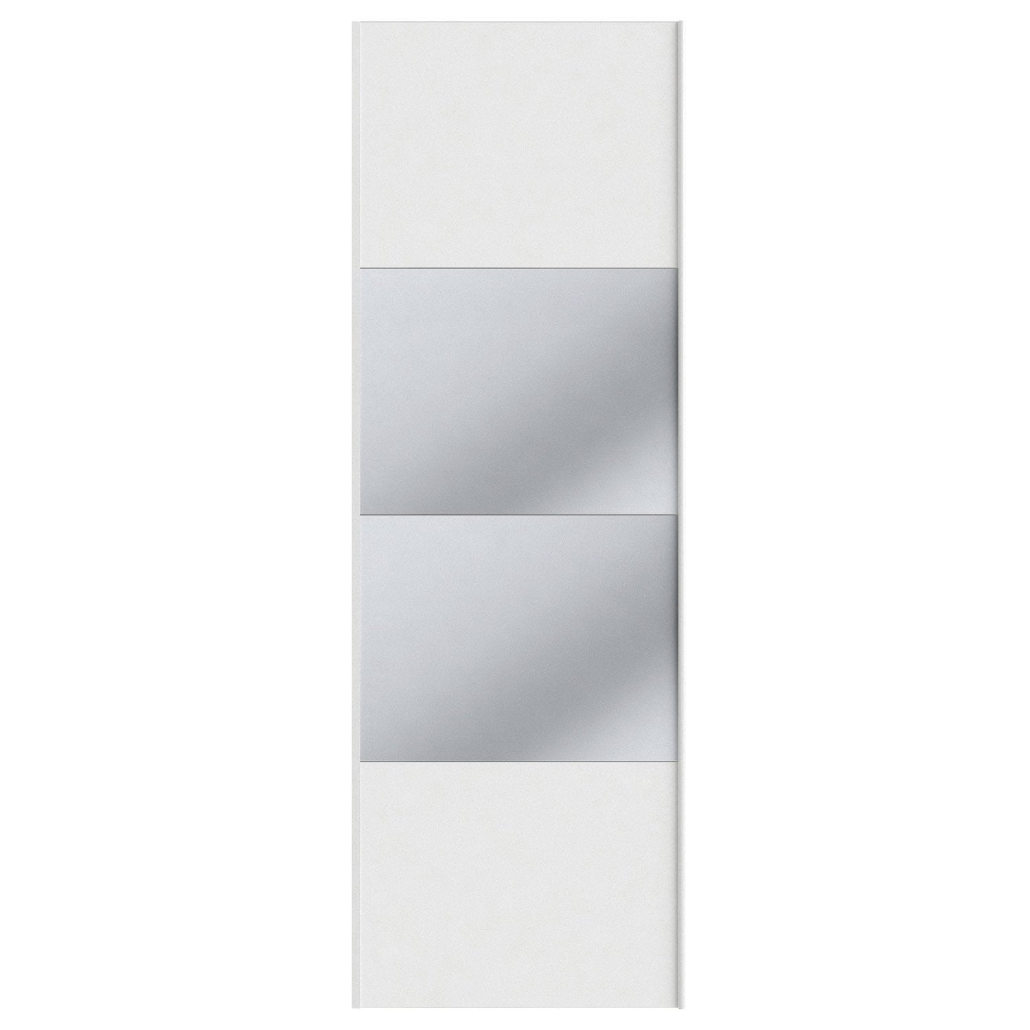 Portes coulissantes spaceo home 240 x 80 x 1 6 cm blanc for Carrelage 80 x 80