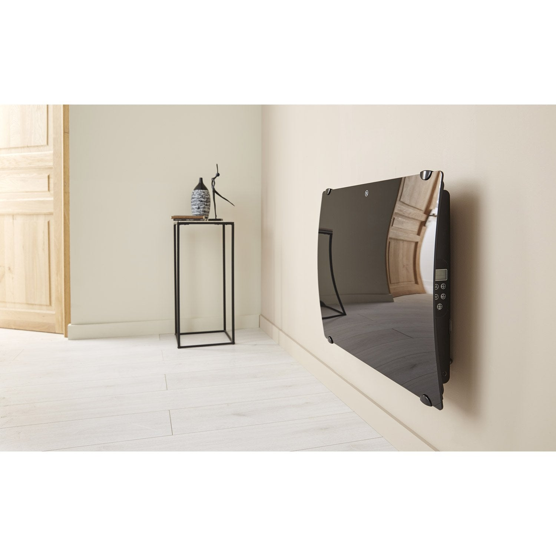 radiateur lectrique rayonnement en verre galb 1000w. Black Bedroom Furniture Sets. Home Design Ideas