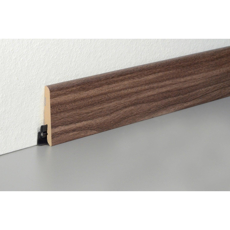 plinthe sol stratifi effet noyer royal cm x x mm leroy merlin. Black Bedroom Furniture Sets. Home Design Ideas