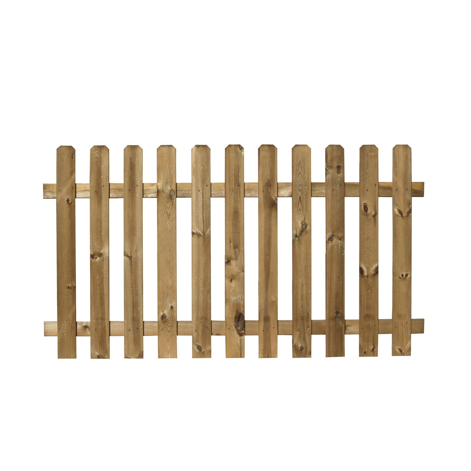 Barri re bois merens marron x cm leroy merlin for Barriere de jardin bois