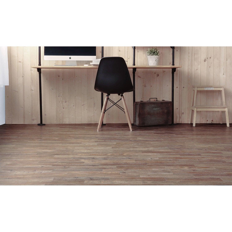 lame pvc adh sive effet ch ne pecan mini lame vintage leroy merlin. Black Bedroom Furniture Sets. Home Design Ideas