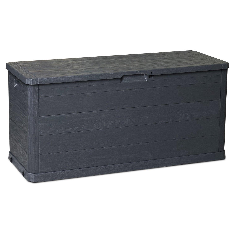 Affordable coffre de jardin rsine malle woody gris anthracite l x h with rangement extrieur tanche - Coffre de rangement exterieur etanche ...