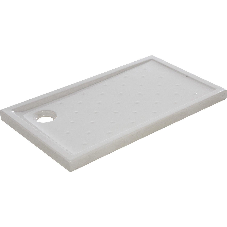 receveur de douche asca2 extra plat gr s maill rectangulaire 120 x 70 cm leroy merlin. Black Bedroom Furniture Sets. Home Design Ideas