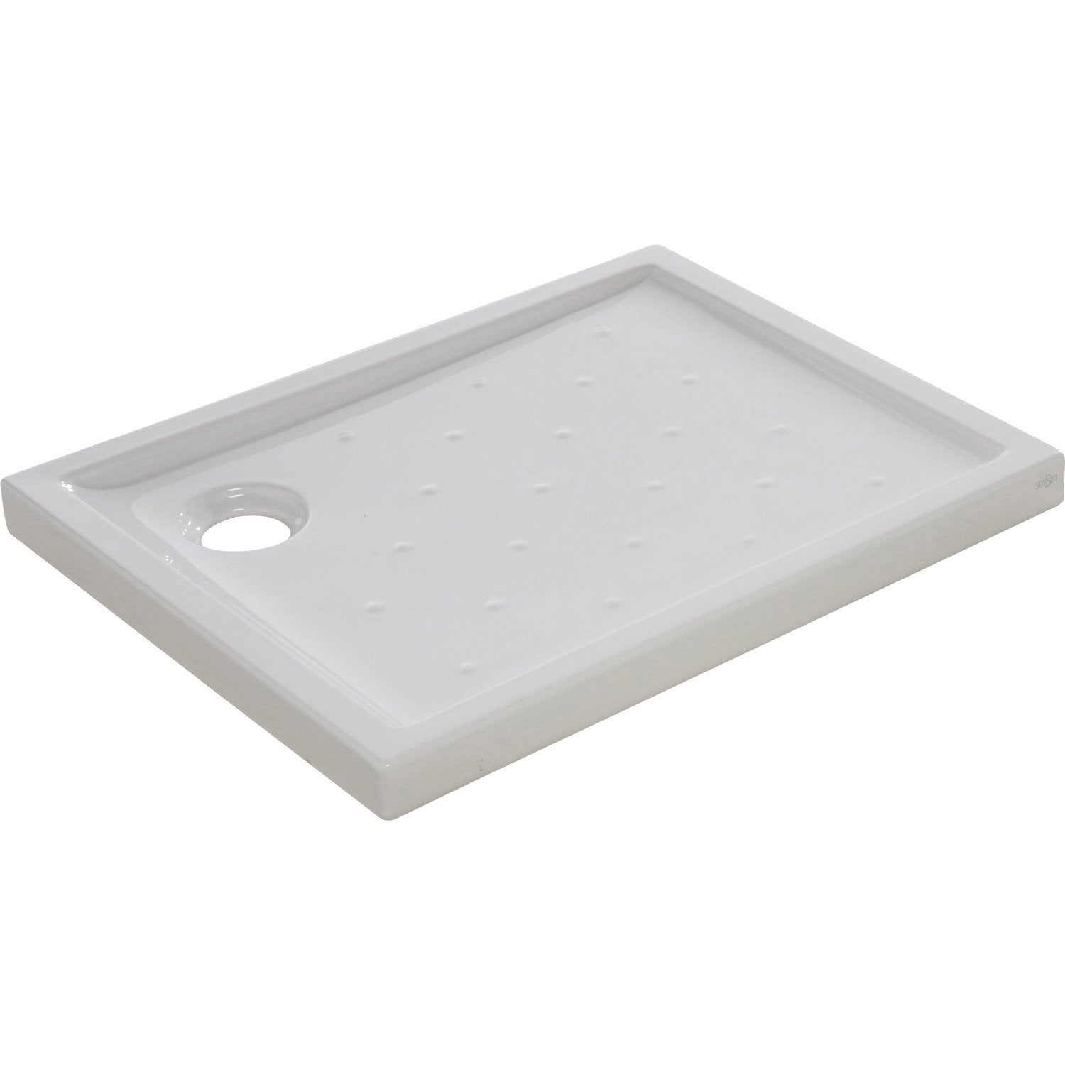 Receveur de douche rectangulaire x cm gr s for Carrelage 80 x 80