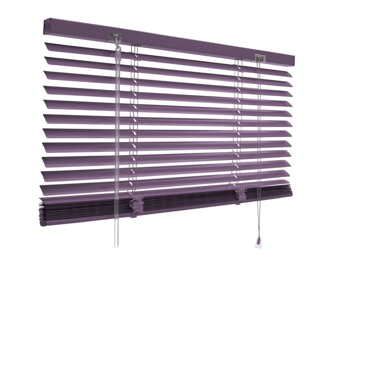 Store v nitien aluminium violet x cm leroy merlin Store bois leroy merlin