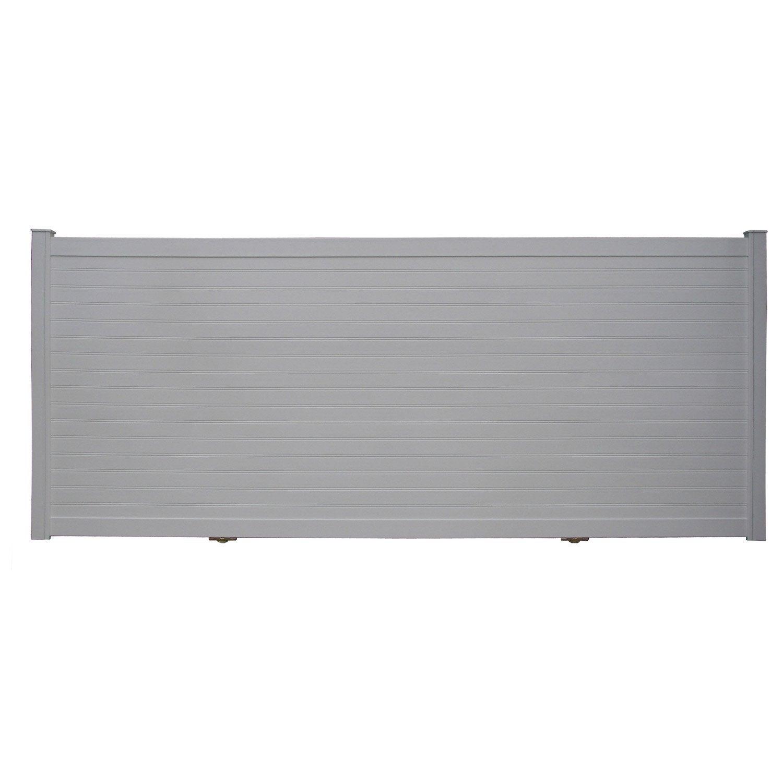 portail coulissant aluminium concarneau blanc naterial x cm leroy merlin. Black Bedroom Furniture Sets. Home Design Ideas
