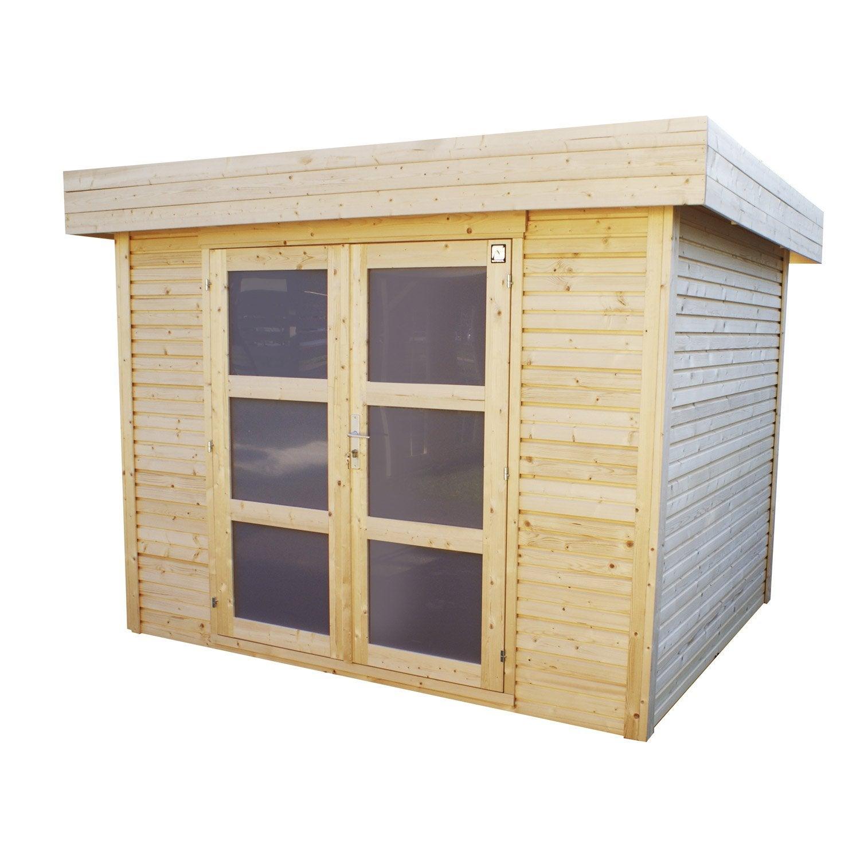 abri bois tepsa 2 m mm leroy merlin. Black Bedroom Furniture Sets. Home Design Ideas
