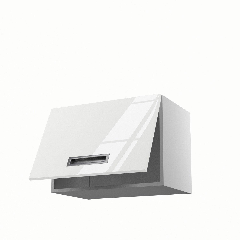 meuble de cuisine haut sur hotte blanc 1 porte play x x cm leroy merlin. Black Bedroom Furniture Sets. Home Design Ideas
