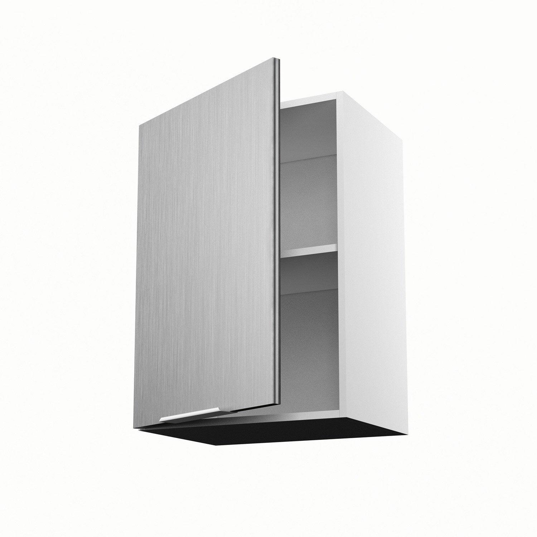 Meuble de cuisine haut d cor aluminium 1 porte stil for Meuble haut cuisine 50 cm
