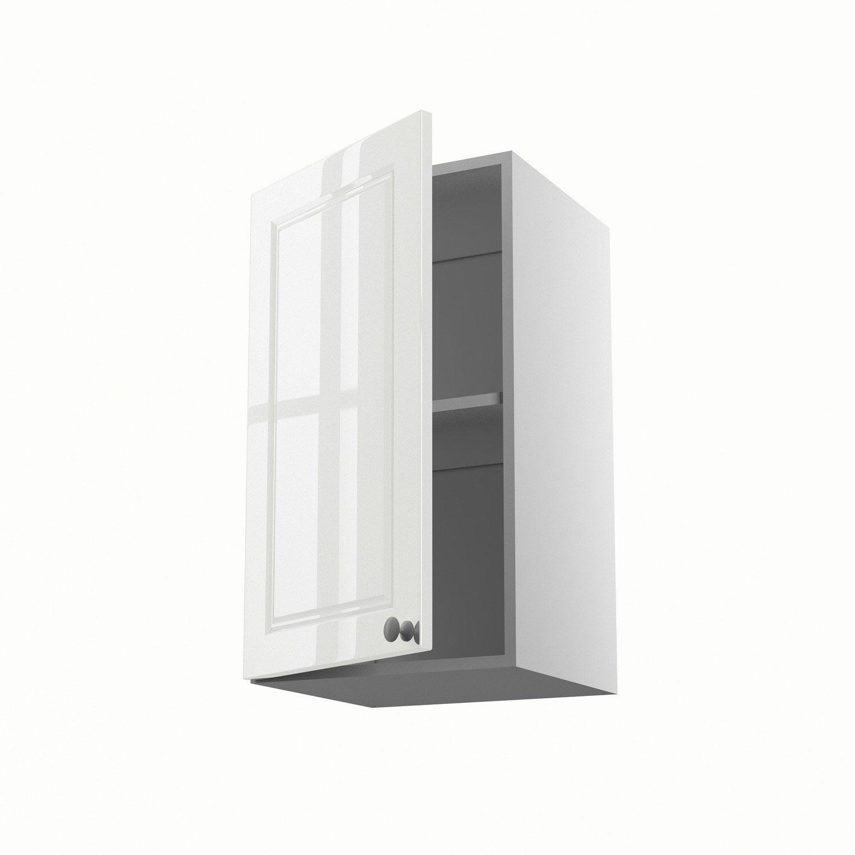 meuble de cuisine haut blanc 1 porte chelsea x x cm leroy merlin. Black Bedroom Furniture Sets. Home Design Ideas