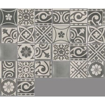 Carreau de ciment sol et mur gris fonc et clair patchwork x cm l - Leroy merlin carreau ciment ...