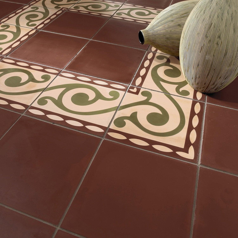 carreau de ciment sol et mur chocolat x cm leroy merlin. Black Bedroom Furniture Sets. Home Design Ideas