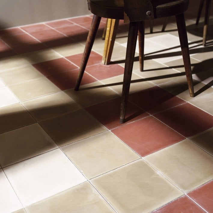 Carreau de ciment sol et mur beige clair leroy merlin - Leroy merlin carreau ciment ...