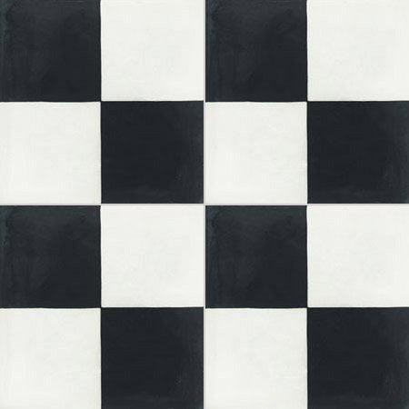 carreau de ciment sol et mur blanc et noir damier x cm leroy merlin. Black Bedroom Furniture Sets. Home Design Ideas