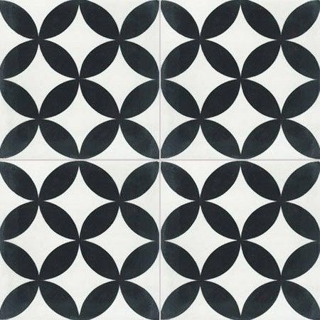 carreau de ciment sol et mur blanc et noir palmette x cm leroy merlin. Black Bedroom Furniture Sets. Home Design Ideas