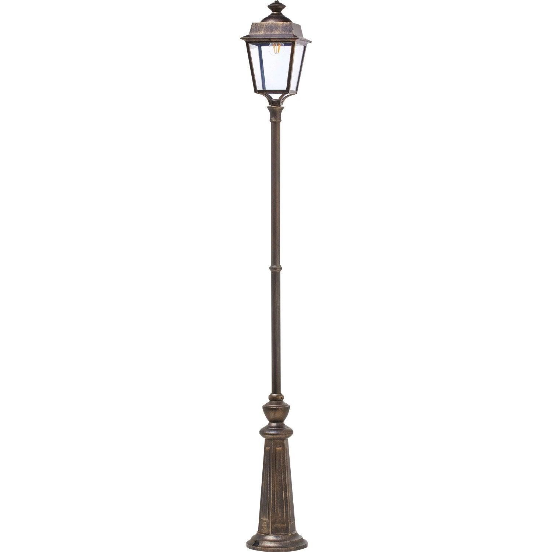 lampadaire ext rieur place des vosges e27 60 w noir or. Black Bedroom Furniture Sets. Home Design Ideas