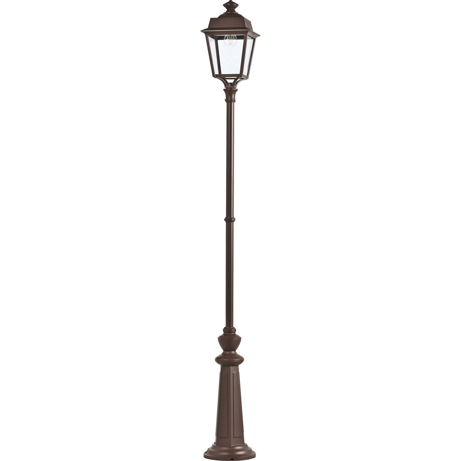 lampadaire ext rieur place des vosges e27 60 w rouille. Black Bedroom Furniture Sets. Home Design Ideas
