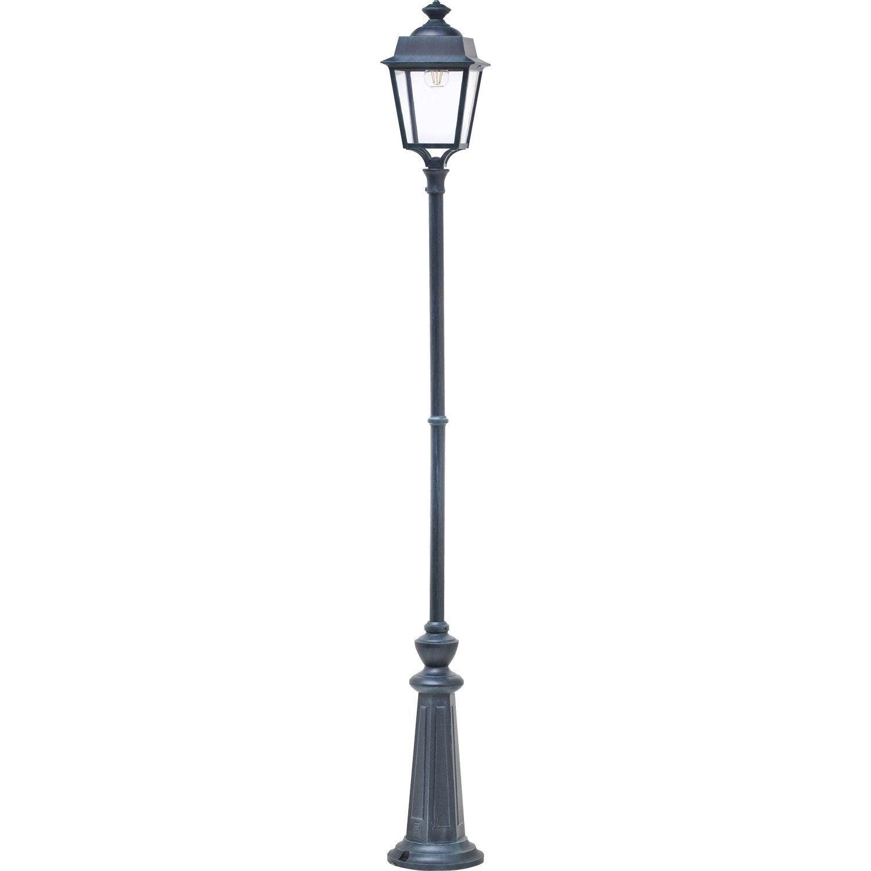 lampadaire ext rieur place des vosges e27 60 w vert de gris roger pradier leroy merlin. Black Bedroom Furniture Sets. Home Design Ideas