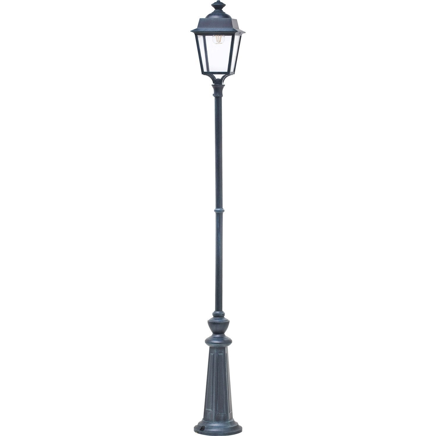lampadaire ext rieur place des vosges e27 vert de gris roger pradier leroy merlin. Black Bedroom Furniture Sets. Home Design Ideas