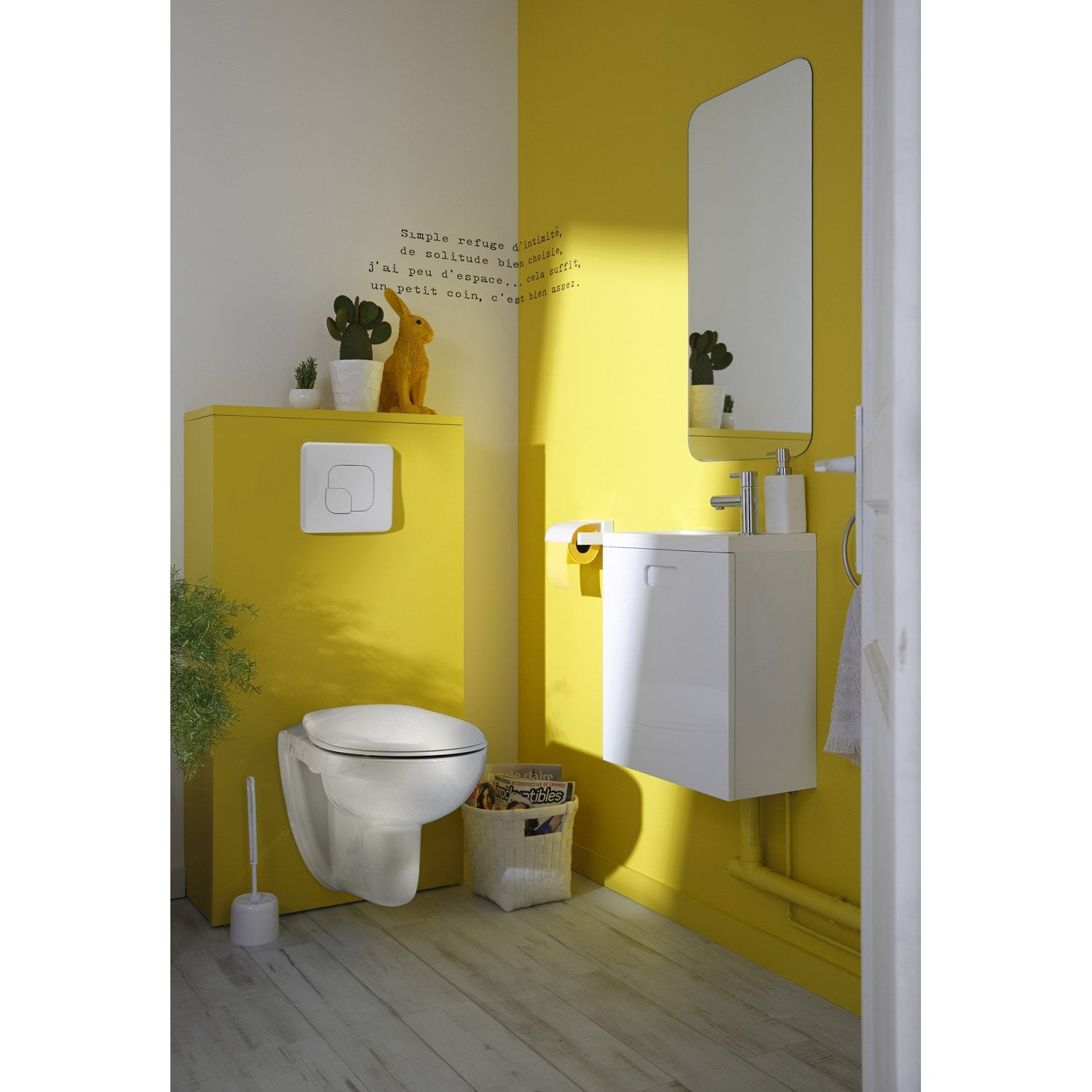 Pack wc suspendu b ti universel sensea remix leroy merlin - Habillage porte interieur leroy merlin ...