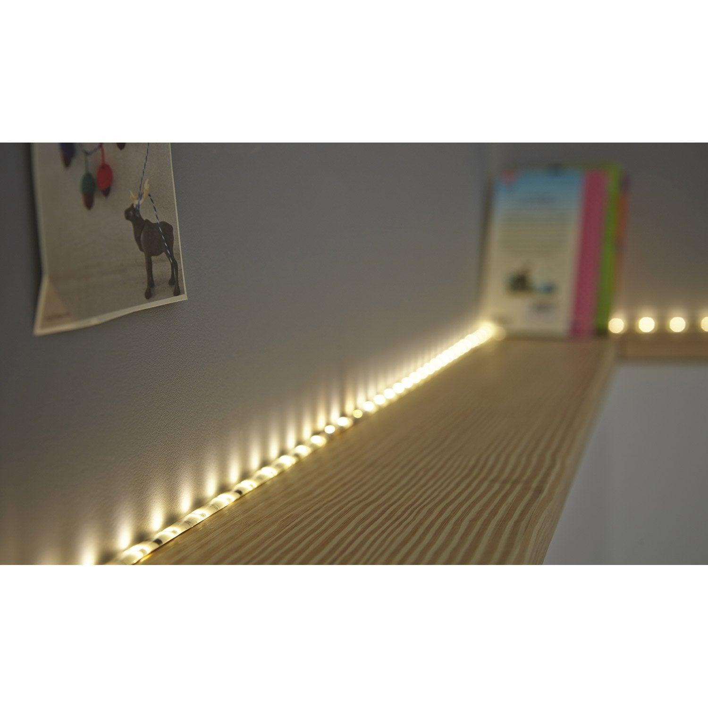 kit ruban led flexled led 1 x 24 w led int gr e blanc chaud leroy merlin. Black Bedroom Furniture Sets. Home Design Ideas