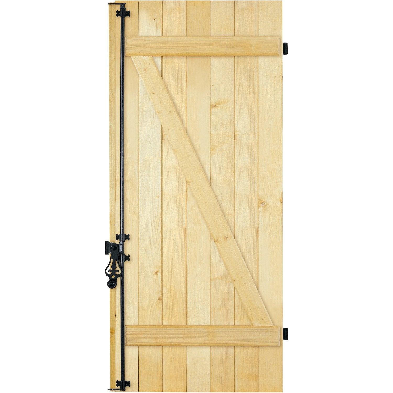 Volet battant sapin 1 vantail vendu en kit tableau for Porte bois exterieur occasion