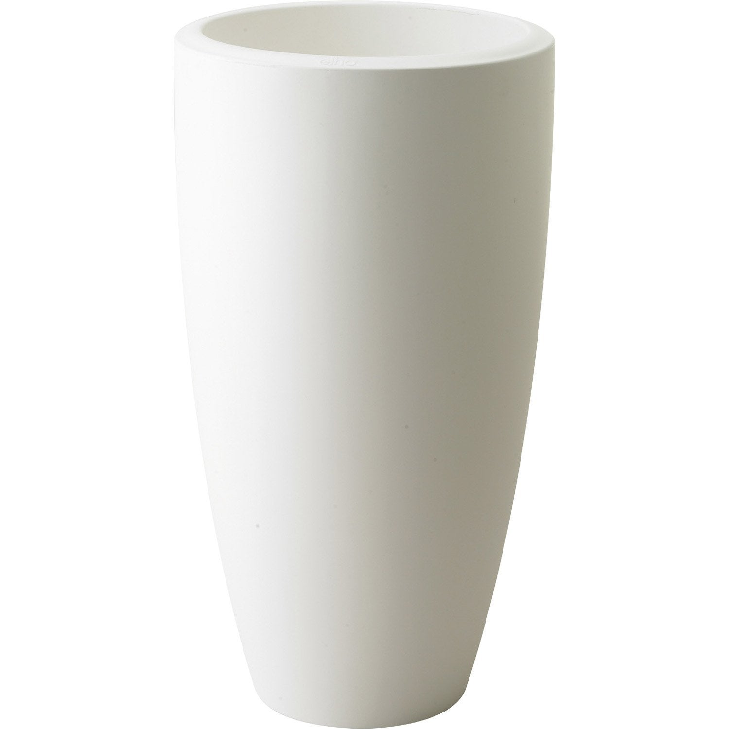 Pot plastique elho x x cm blanc leroy merlin for Pots lumineux leroy merlin