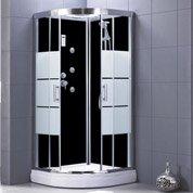 Cabine de douche 1/4 de cercle 90x90 cm, Optima2 noire