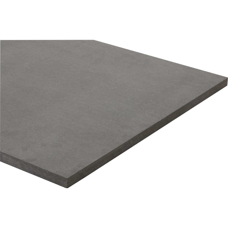 Panneau mdf m dium teint e masse gris anthracite l250 x l122 - Panneaux mdf leroy merlin ...