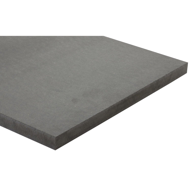 Panneau mdf m dium teint e masse gris anthracite l250 x l122 - Panneau mdf leroy merlin ...