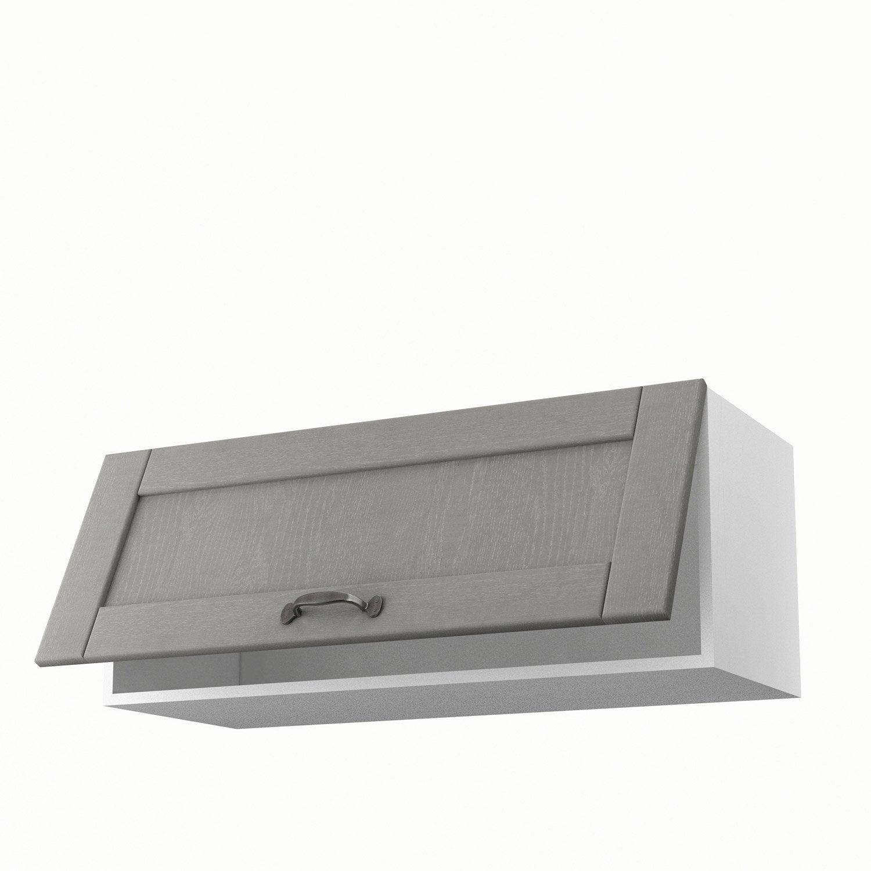 meuble de cuisine haut gris 1 porte nuage x x cm leroy merlin. Black Bedroom Furniture Sets. Home Design Ideas