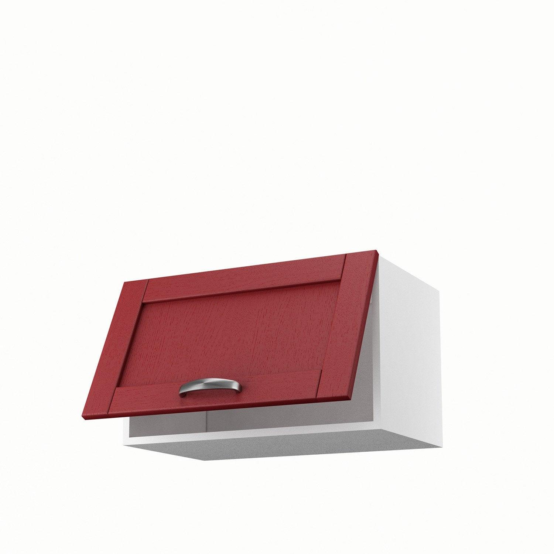 Meuble de cuisine haut rouge 1 porte rubis x x p for Meuble cuisine haut leroy merlin