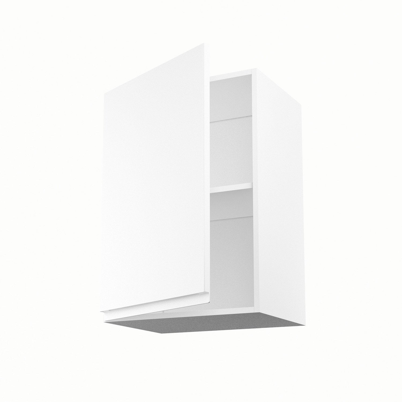 meuble de cuisine haut blanc 1 porte graphic h70xl50xp35 cm leroy merlin. Black Bedroom Furniture Sets. Home Design Ideas