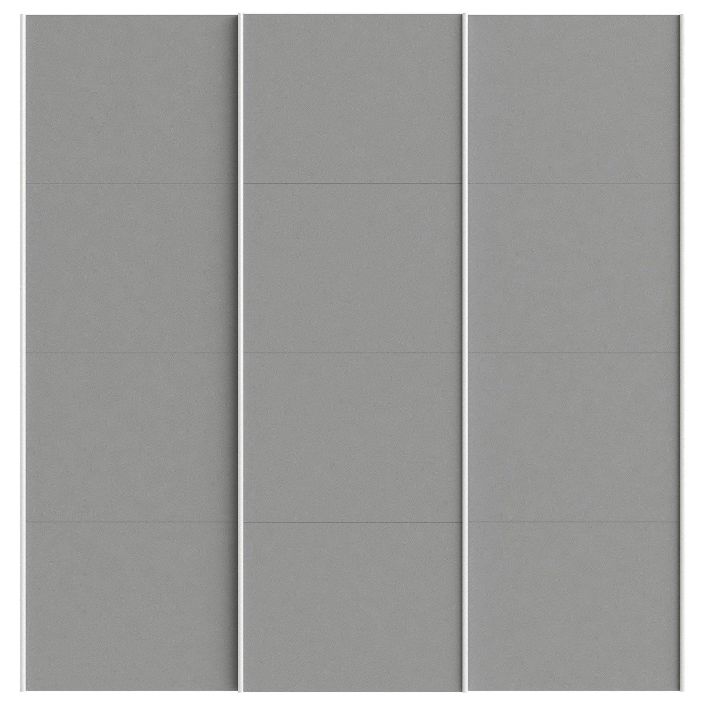 Lot de 3 portes coulissantes spaceo home 240 x 240 x 15 cm anthracite lero - Porte coulissante 240 ...