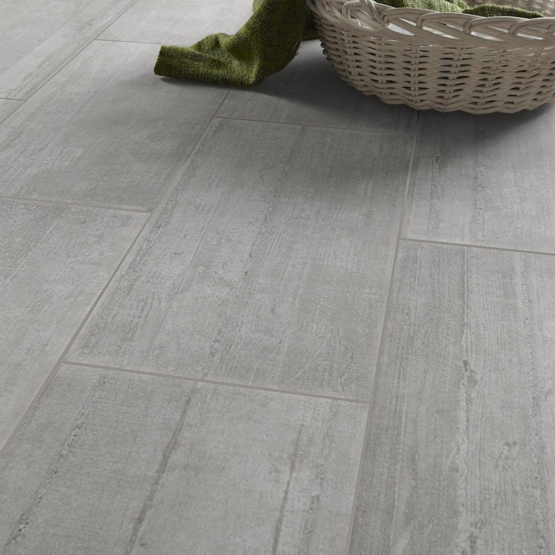 Carrelage sol et mur gris clair effet b ton industry x cm leroy m - Beton cire exterieur leroy merlin ...