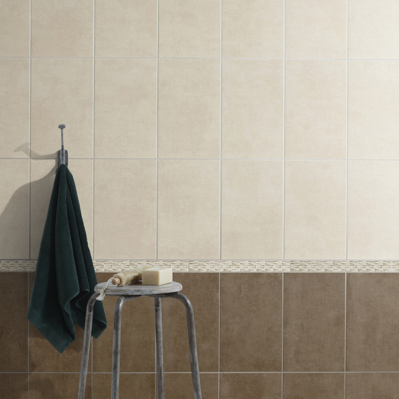 Fa ence mur taupe smart x cm leroy merlin - Carrelage gris mur taupe ...