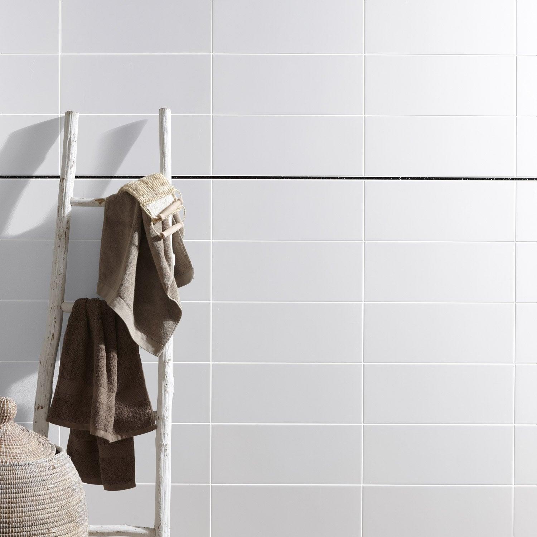 Faïence mur blanc, Basic brillant l.20 x L.50 cm | Leroy Merlin