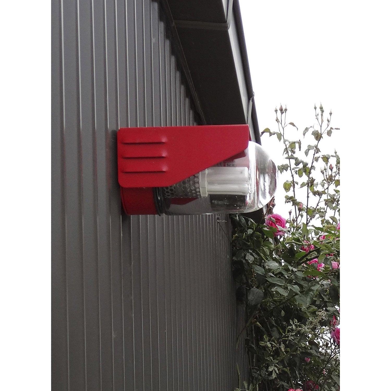 Applique ext rieure rp195 e27 rouge roger pradier leroy for Luminaire exterieur ral 7016