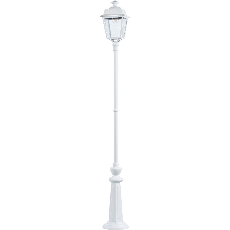Lampadaire ext rieur place des vosges e27 60 w blanc - Lampadaire exterieur blanc ...