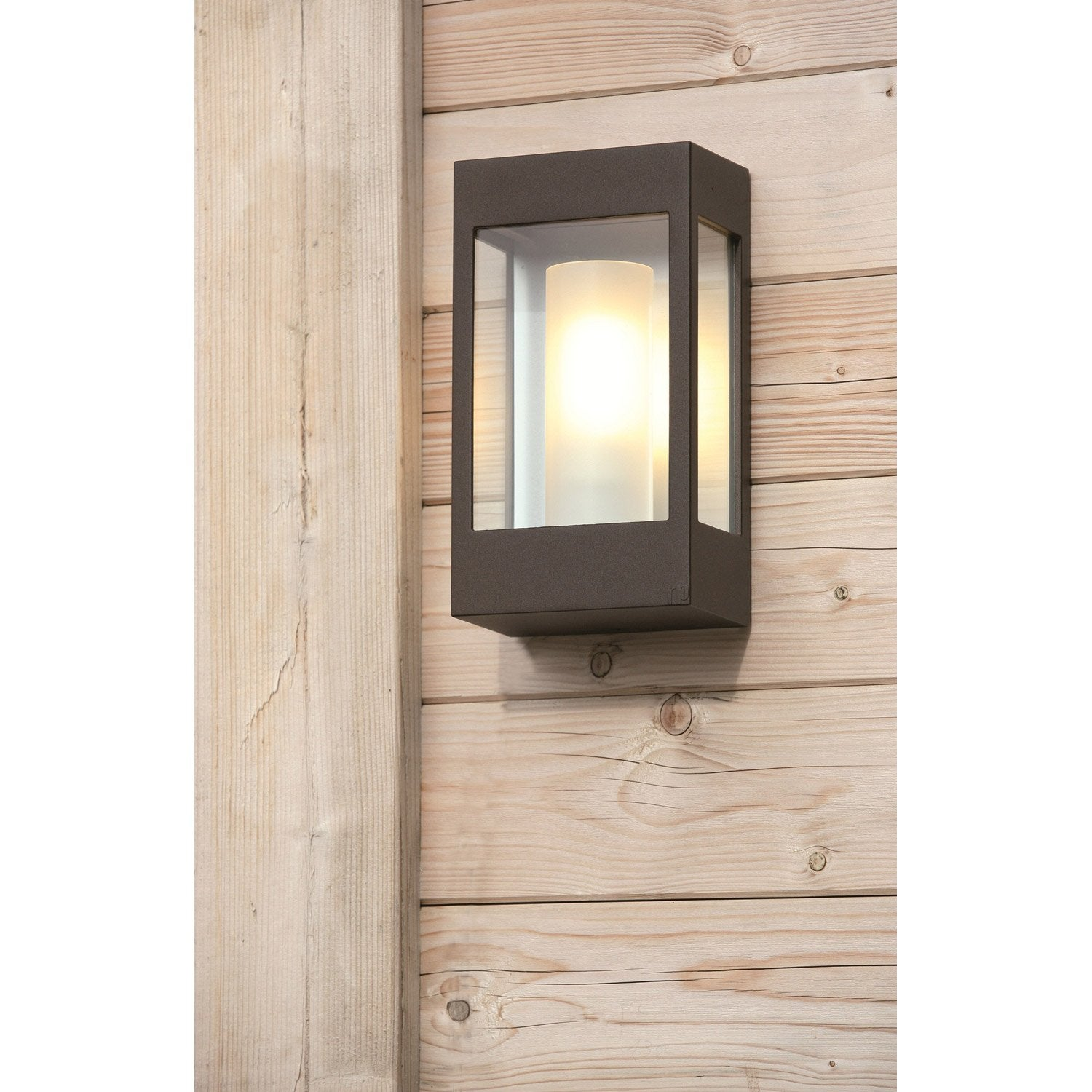 Applique ext rieure brick e27 60 w rouille roger pradier for Applique murale exterieur led leroy merlin