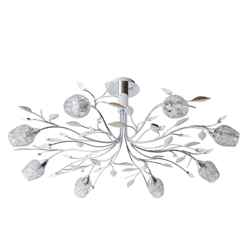 suspension g9 design adriana m tal chrome 8 x sans ampoule w seynave leroy merlin. Black Bedroom Furniture Sets. Home Design Ideas