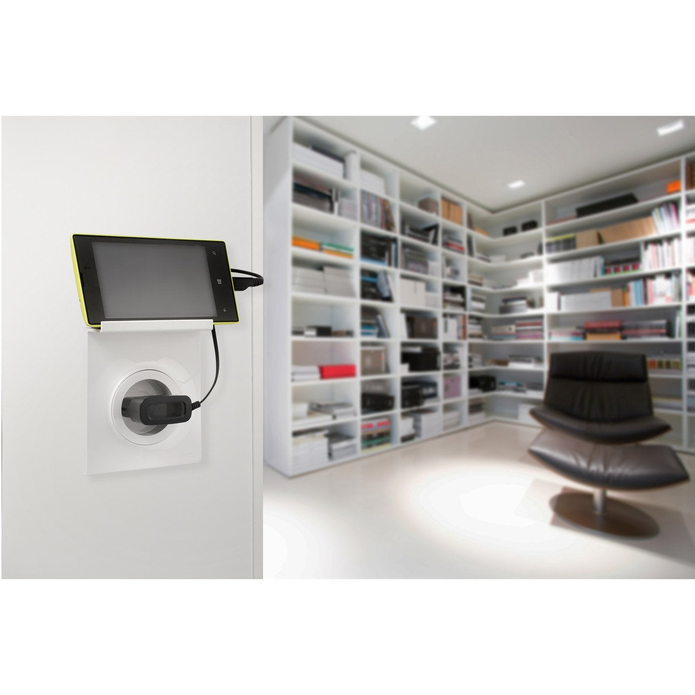 plaque odace schneider electric blanc brillant leroy merlin. Black Bedroom Furniture Sets. Home Design Ideas