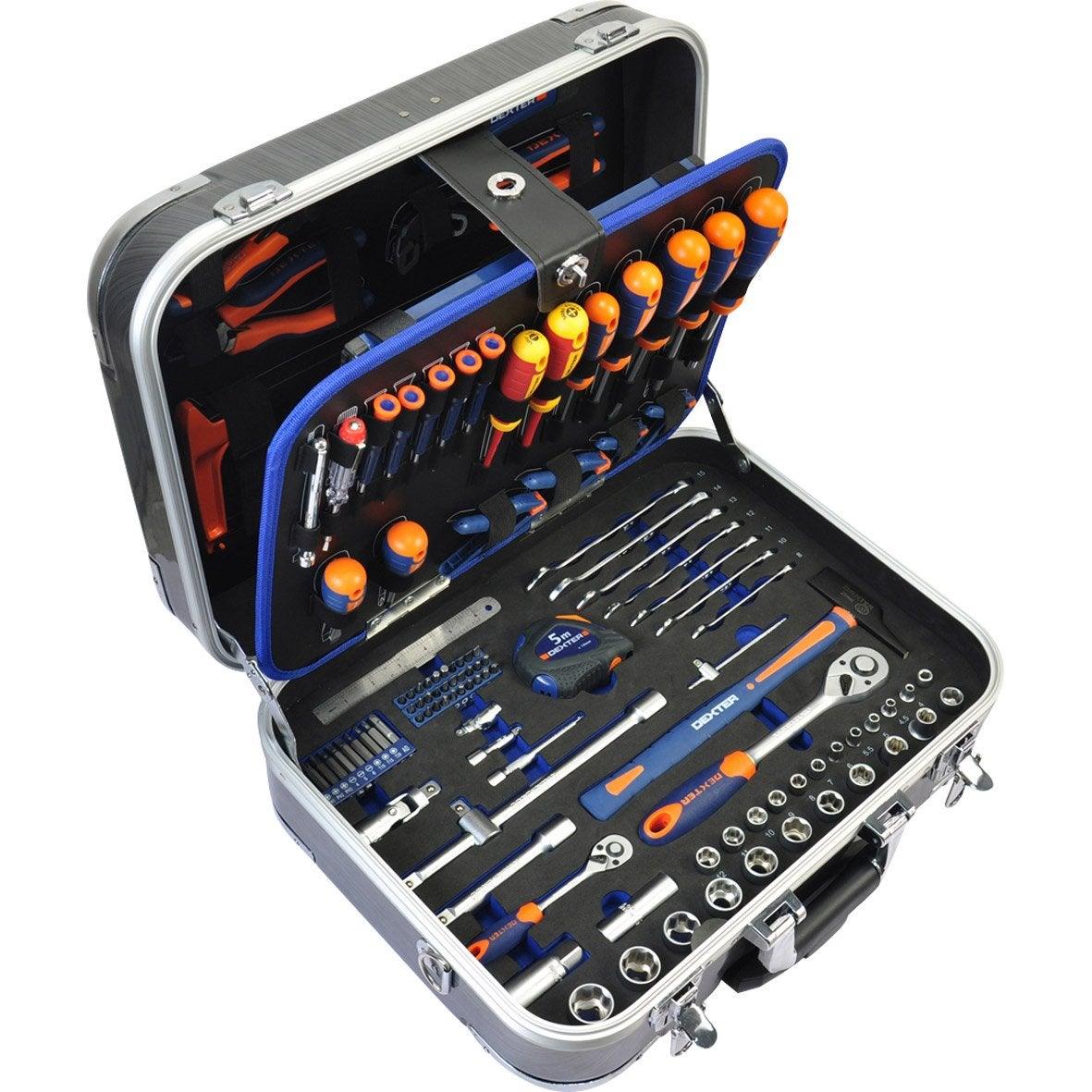 Coffret d 39 outils 141 pi ces dexter leroy merlin - Malette outils leroy merlin ...