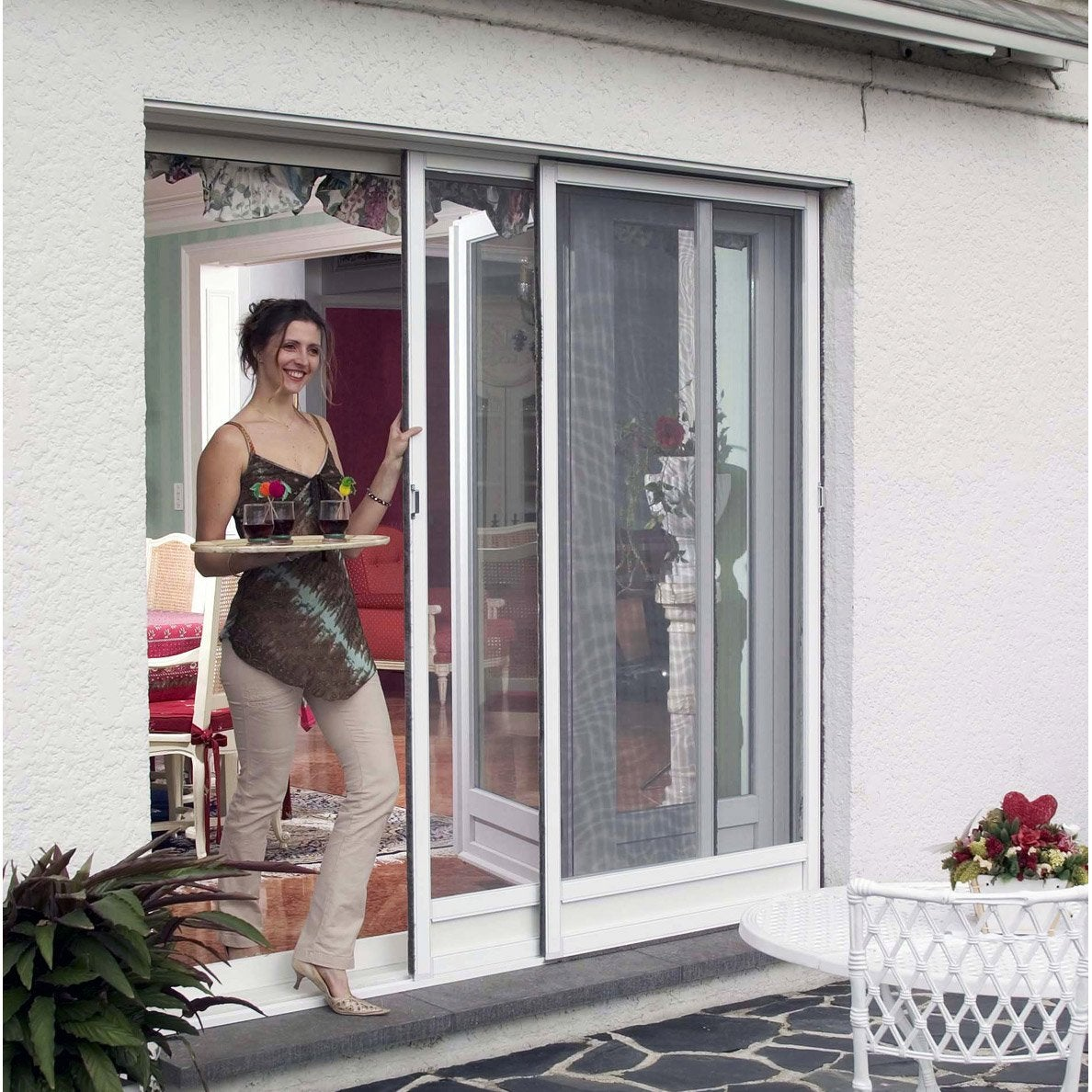 moustiquaire baie coulissante moustikit 240x160 cm leroy merlin. Black Bedroom Furniture Sets. Home Design Ideas