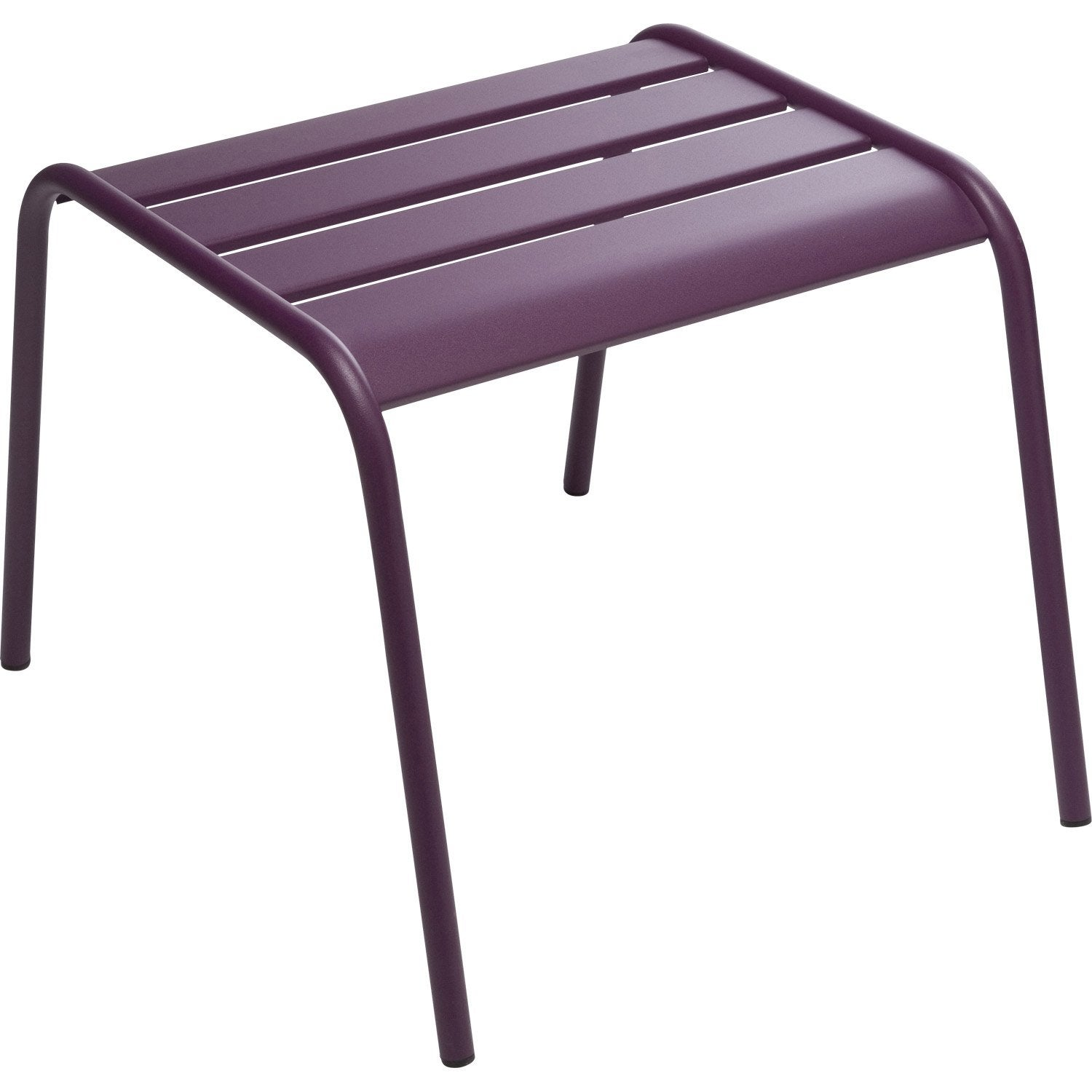 Table basse FERMOB Monceau rectangulaire aubergine 2 personnes  Leroy Merlin -> Leroy Merlin Table Basse Rangement