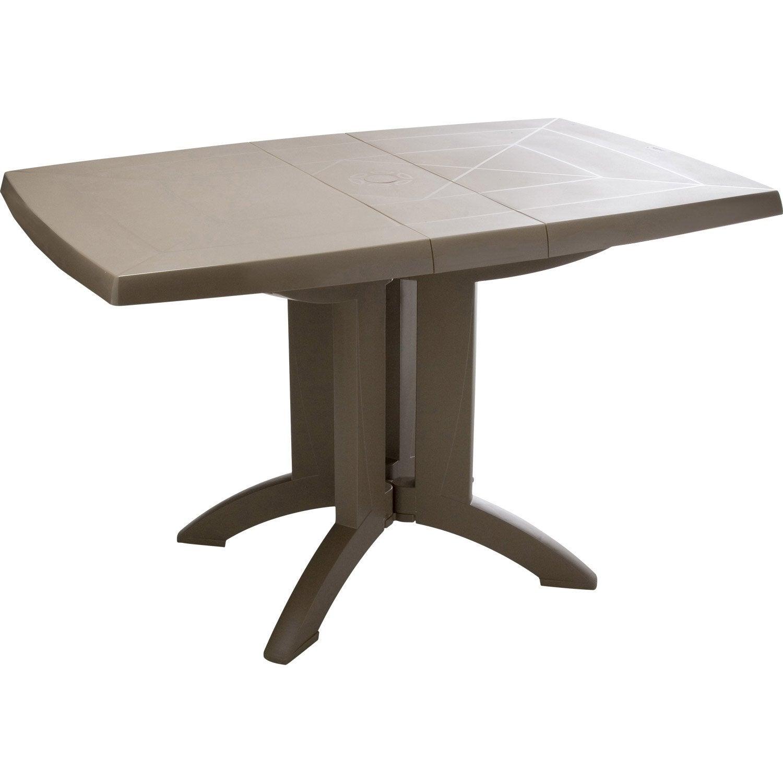 Table de jardin grosfillex v ga rectangulaire taupe 4 for La table de 4