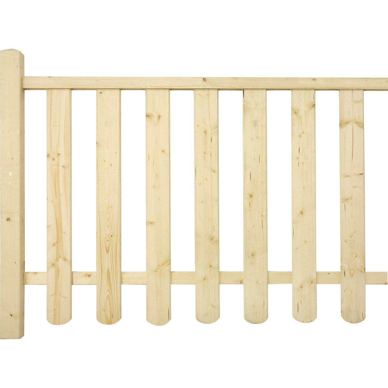 Balustre en sapin 88x9x1 7 cm leroy merlin for Balustrade en bois interieur