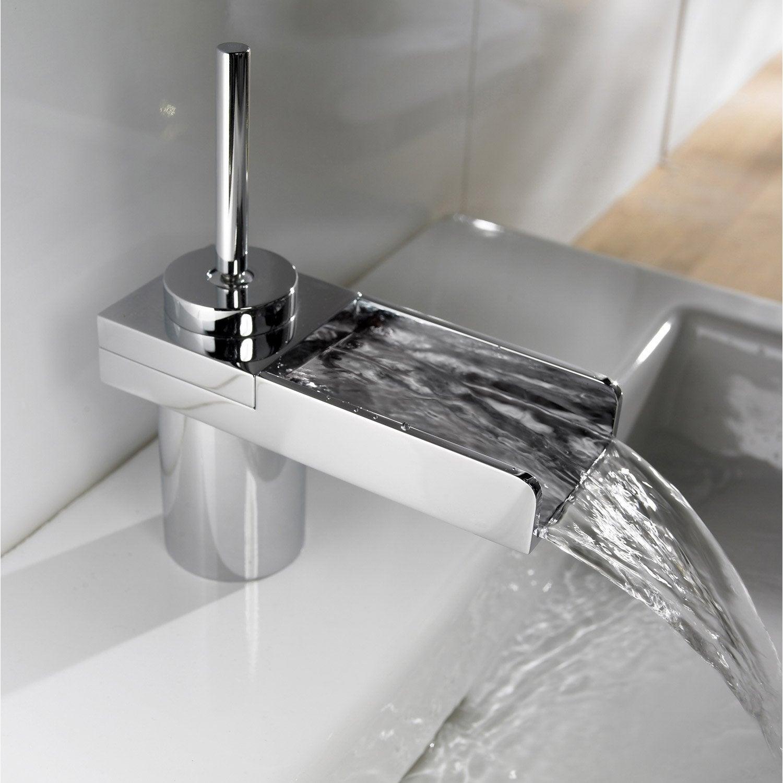 mitigeur de lavabo bec bas waterjoy led chrom leroy merlin. Black Bedroom Furniture Sets. Home Design Ideas